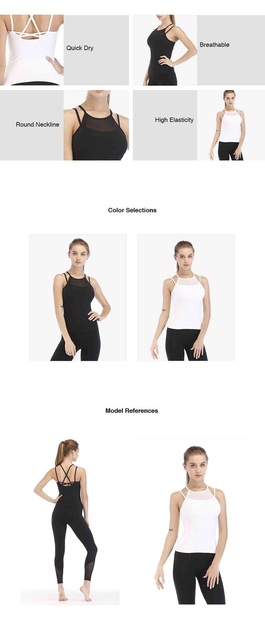 High Neck Strappy Tank Top