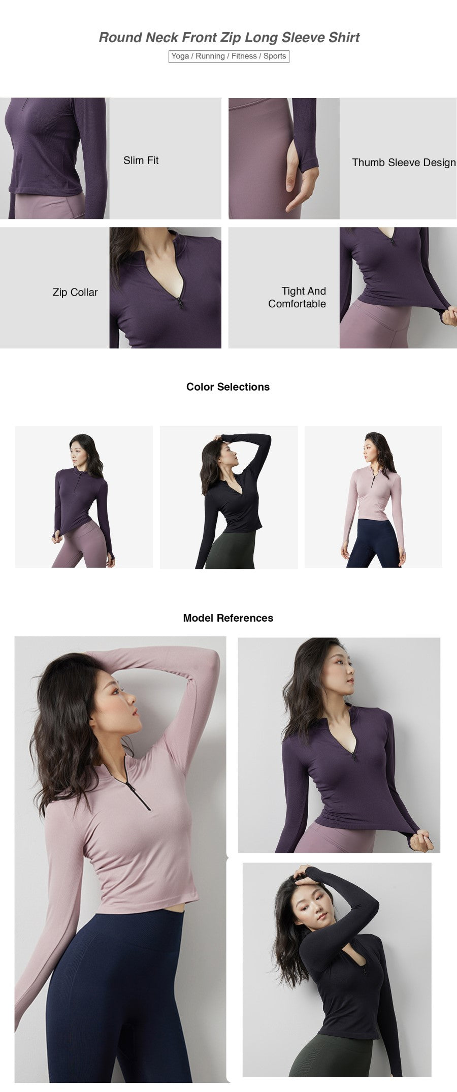 Tight Seamless Long Sleeve Top
