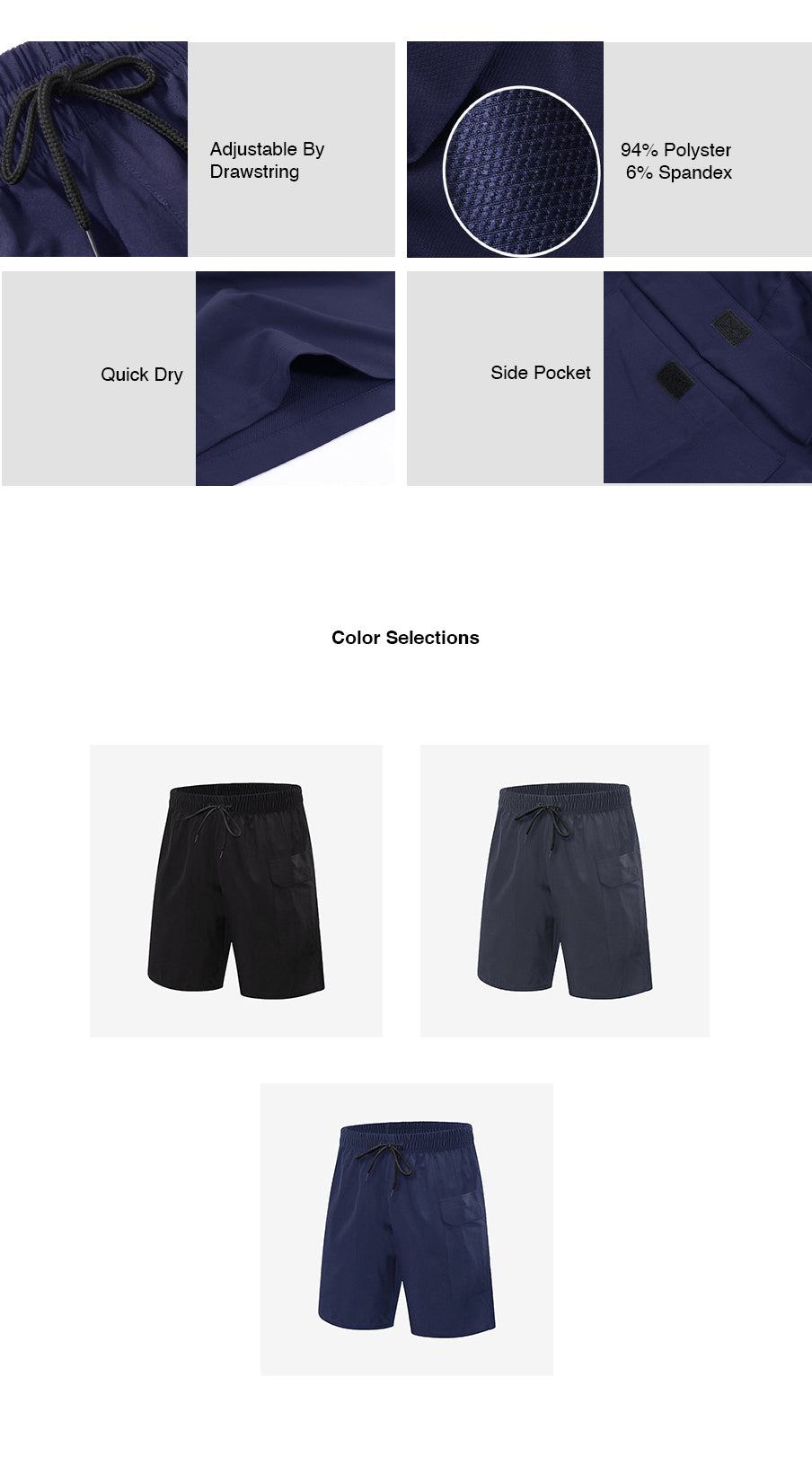 Quick Dry Fitness Shorts
