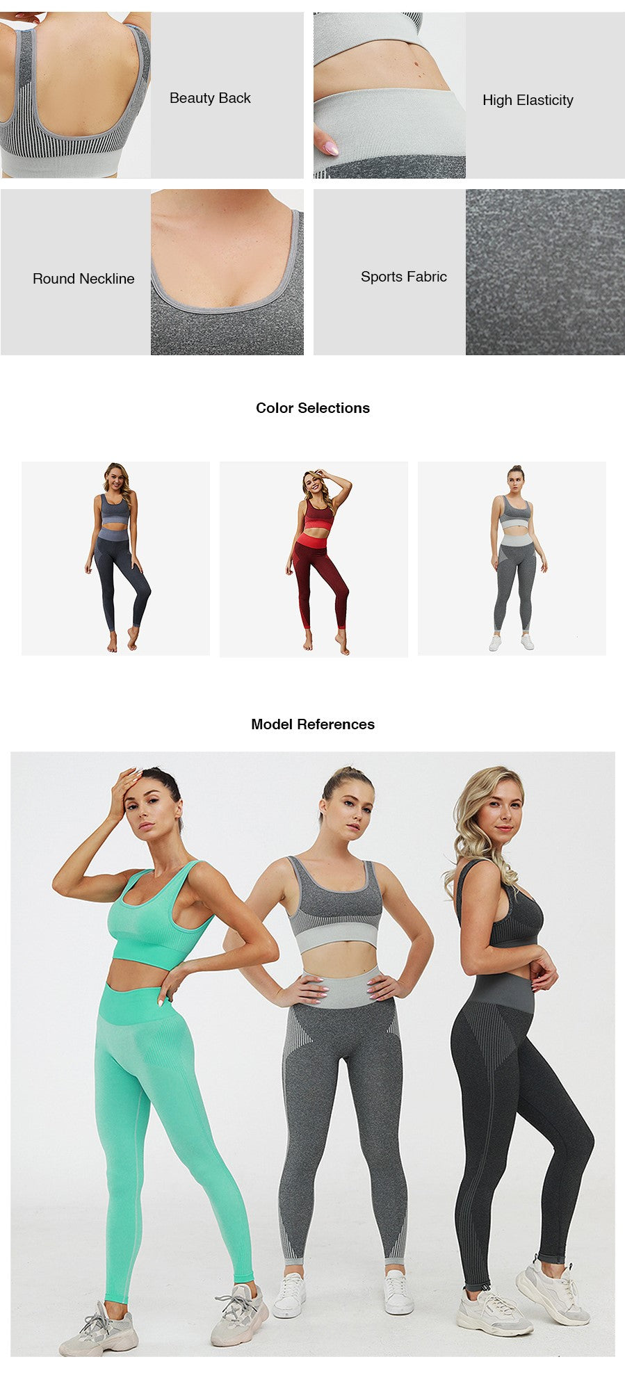 Astrid Seamless Knit Gym Wear Set