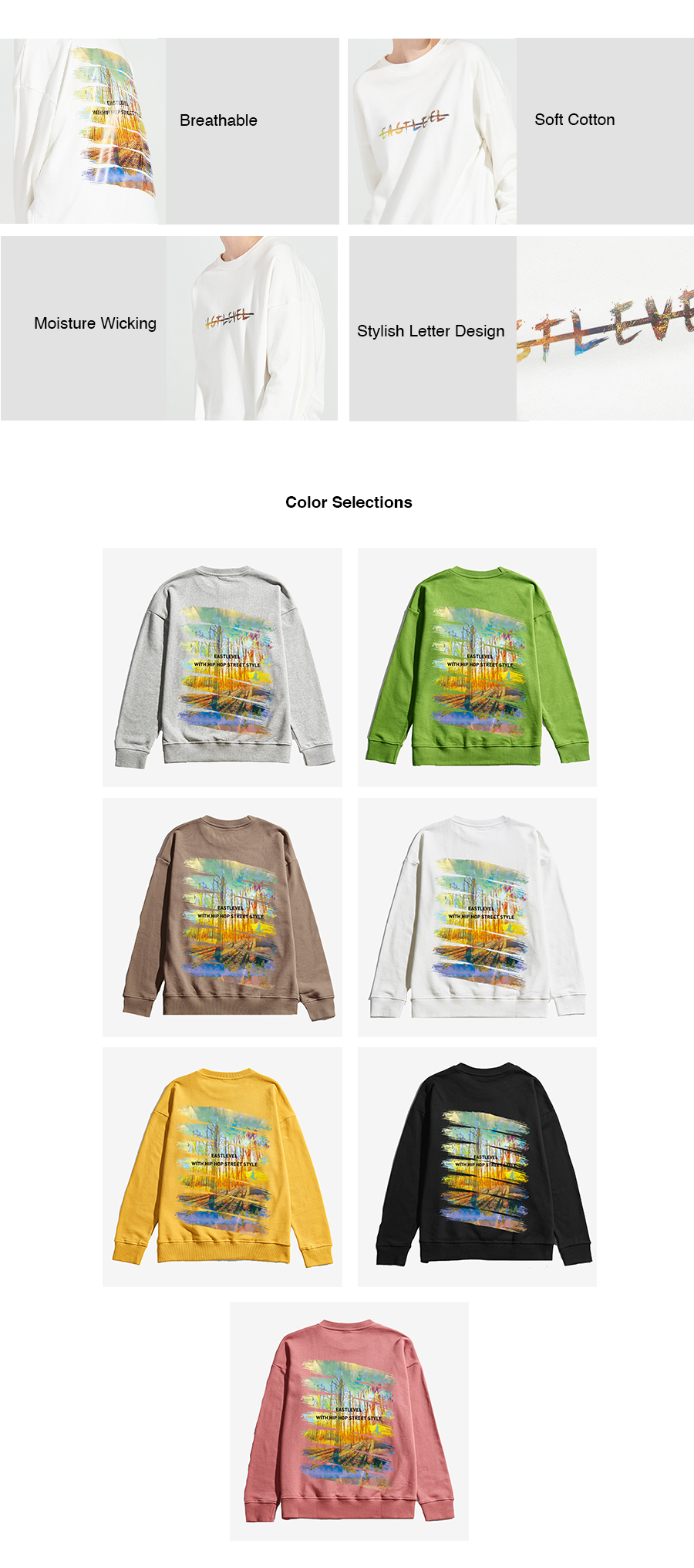 Oil Painting Print Sweater