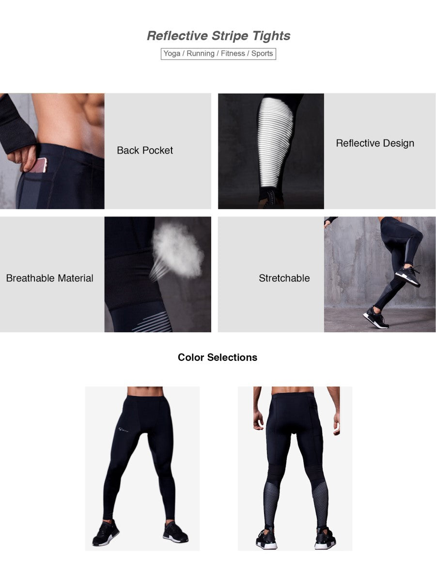 Leggings With Reflective Stripe