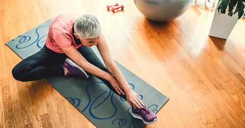 Yoga helps with arthritis for aging people