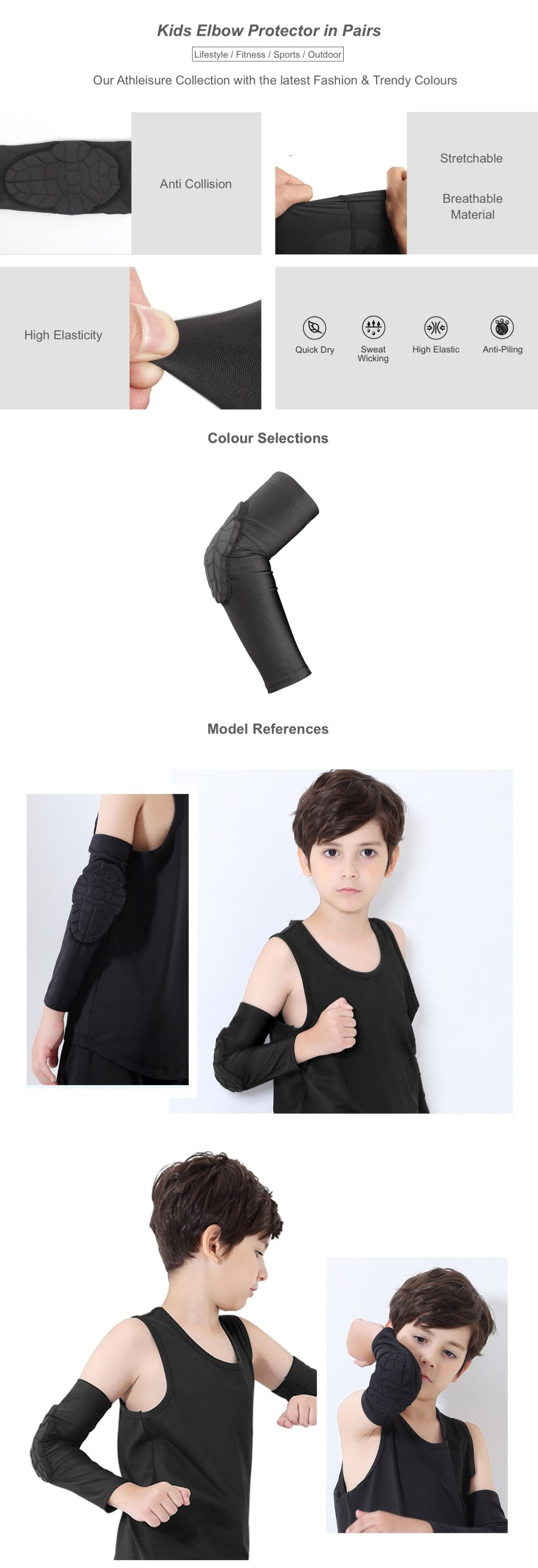 Kids Elbow Protector in Pairs