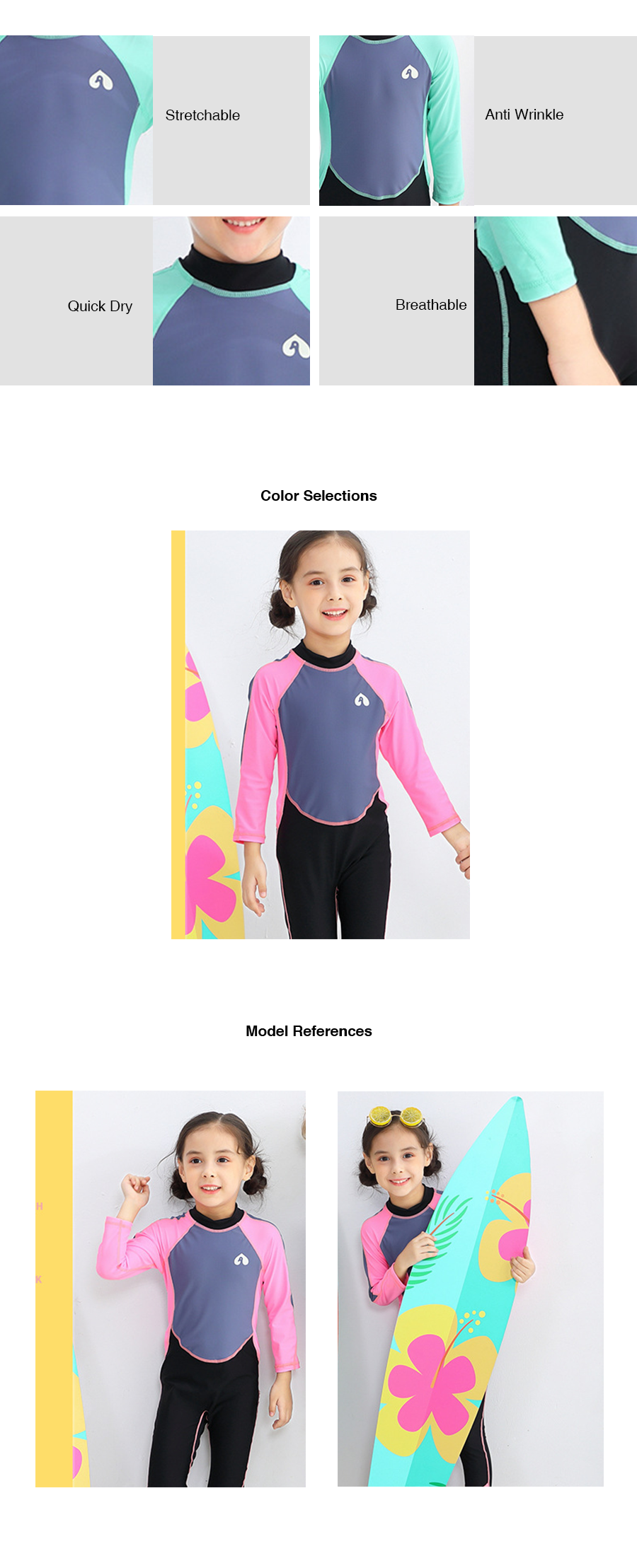 Two Toned Kids Wetsuit