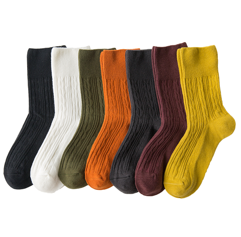 5 Pack Hemp Pattern Socks