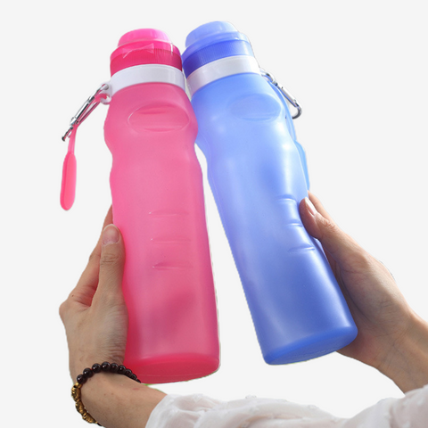Flexible Silicone Water Bottle - 600ml
