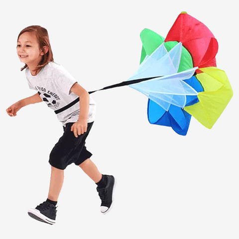 Children Running Parachute