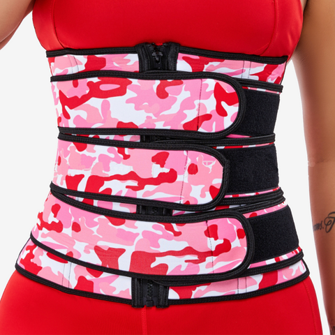 Camouflage 3 Ply Velcro Sweat Waist Trimmer