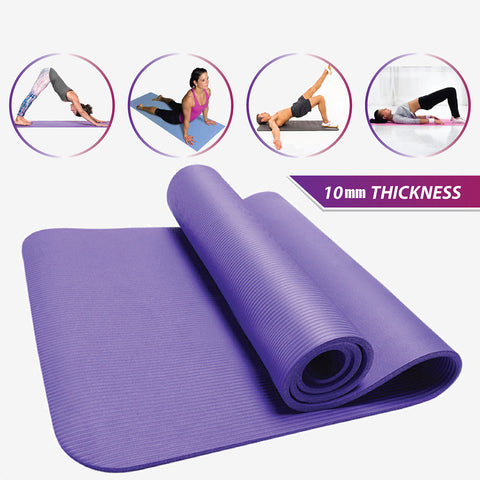 NBR Yoga Mat 10mm (Random Color)