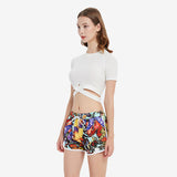 Butterflies Print Beach Shorts