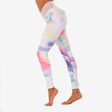 Pastel Clouds Ruched Pocket Legging