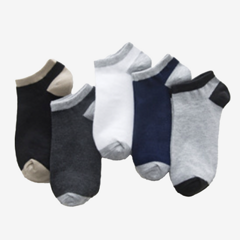 5 Pair Two Tone Ankle Socks