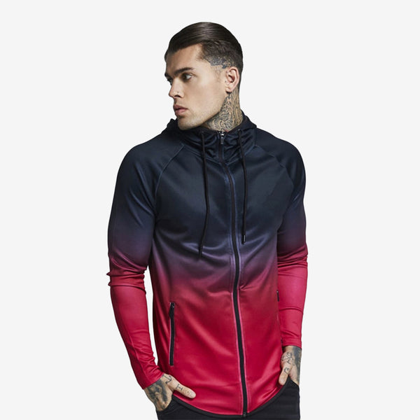 Ombre Fitness Hooded Jacket