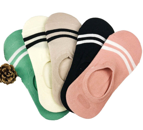 5 Pack Invisible Stripe Socks