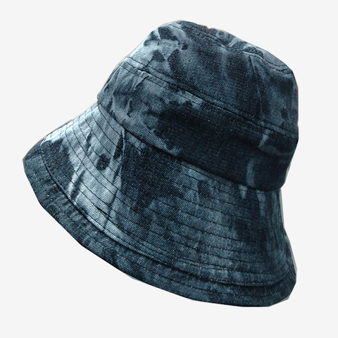 Tie Dye Denim Buckle Hat