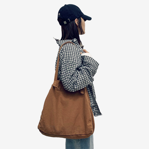 Faux Denim Tote Bag
