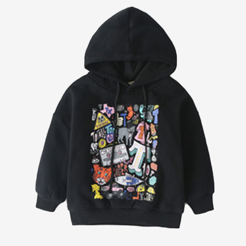 Art Graphic Print Children Hoodies