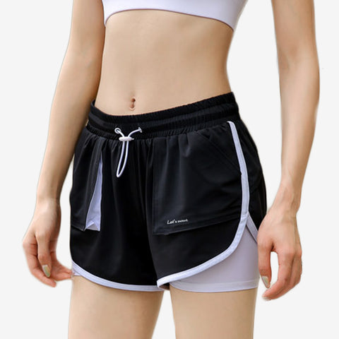 2 in 1 Active Bungee Cord Shorts