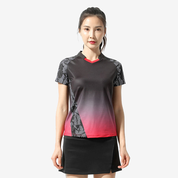 Badminton Gradient Colour T-shirt