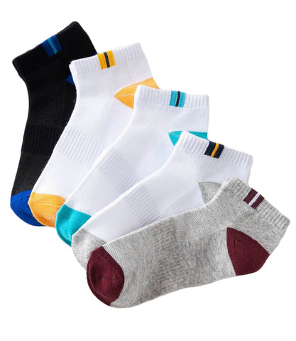 5 Pack Low Cut Socks