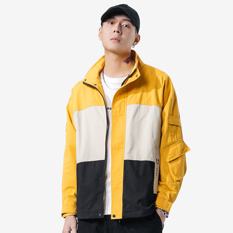 Sport Style Color Block Jacket