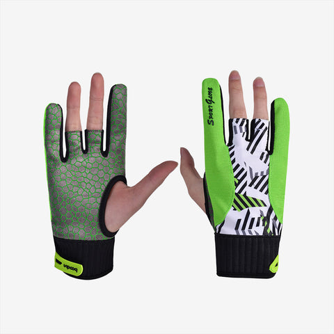 Anti-Skid Semi Fingerless Bowling Gloves
