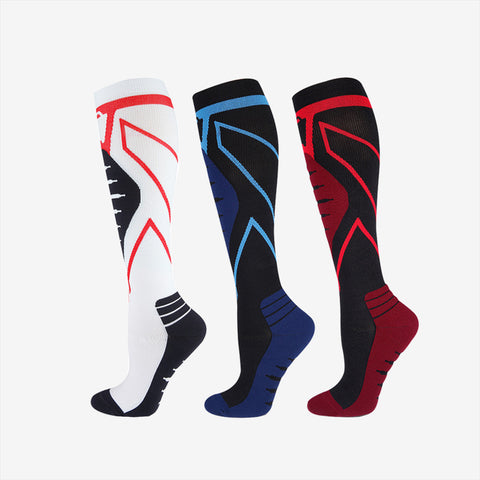 Geometric Design Marathon Compressive  Socks