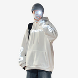 Reflective Cartoon Oversized Hoodies