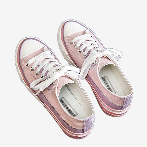 Colourblock Ulzzang Canvas Shoes