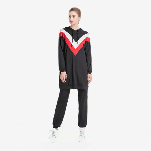 Colourblock Hooded Tracksuit Set