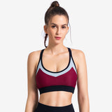 Colourblock Push Up Sports Bra