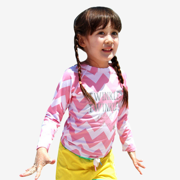 Zig Zag Long Sleeves Kids Swimwear