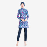 Floral Print Modest Swimwear with Hijab Detachable