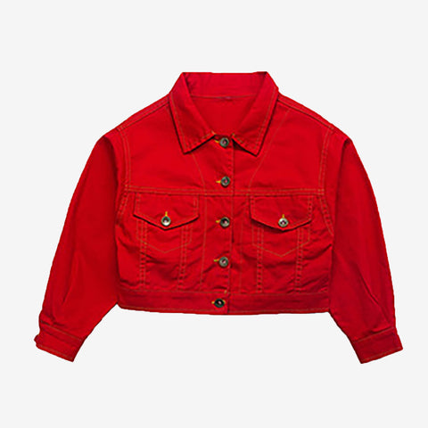 Kids Cropped Denim Jacket