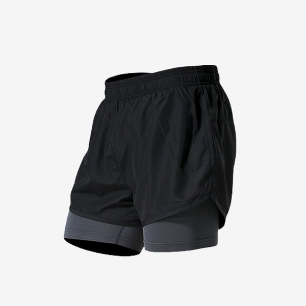 Fake Two Sports Shorts Men's Tight