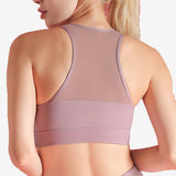 Deep-V Mesh Net Sports Bra
