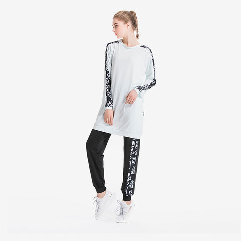 Wording Panel Tracksuit Set