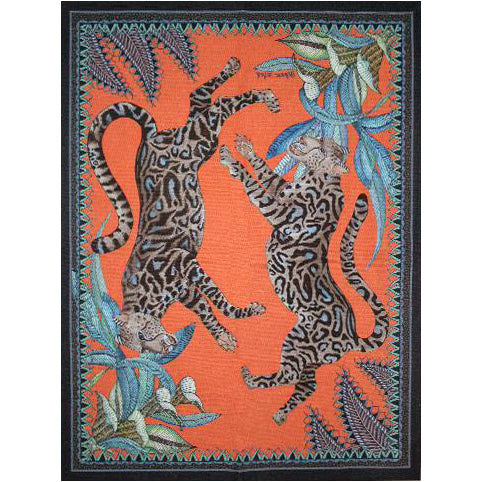 Cheetah Kings Coral Tea Towel