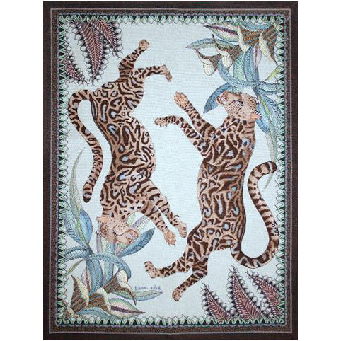 Cheetah Kings Mist Tea Towel