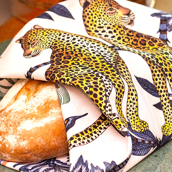 Love Leopard Tanzanite Tea Towel