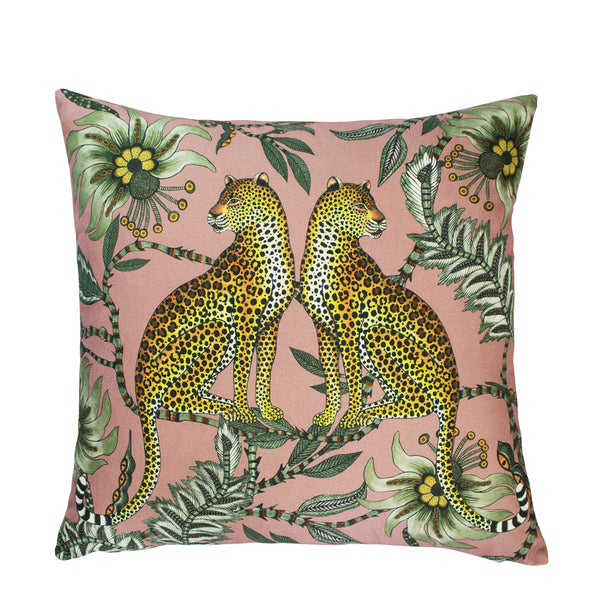 Lovebird Leopards Magnolia Cushion Cover