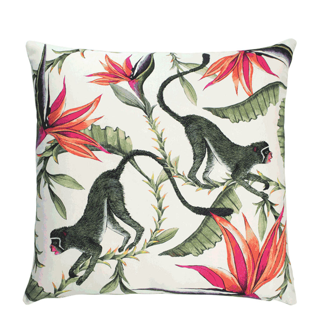 Monkey Paradise Chalk Cushion Cover