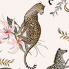 Leopard Lily Square Tablecloth in Safari