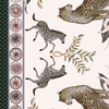 Leopard Lily Tablecloth in Safari Stone