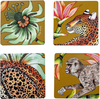 Set of Four Monkey Paradise Swamp Coasters