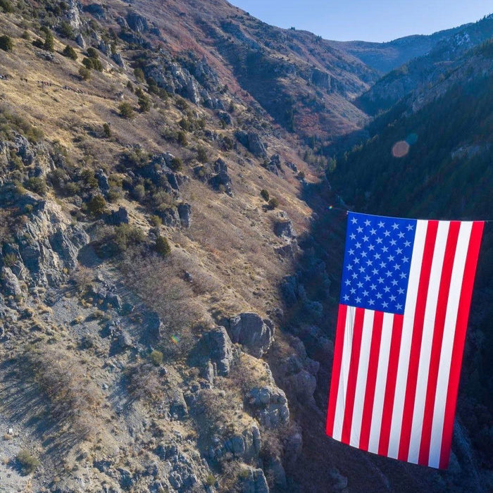 Follow The Flag unfurls another flag across Utah canyon to honor veterans