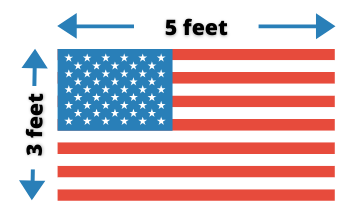 3-foot by 5-foot American Flag