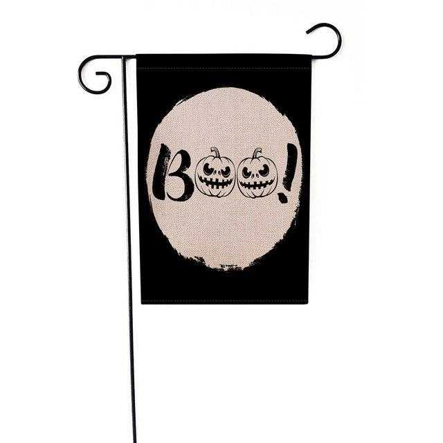 1 Piece 12x18 inch Halloween Flag Pumpkin Black