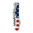 American Flag Stainless Steel Corkscrew by Foster